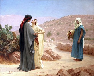 Philip Hermogenes Calderon - Ruth, Boas and Naomi