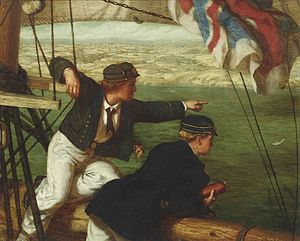 Philip Richard Morris - Two Young Midshipmen in Sight of Home, 1864