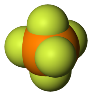 Phosphorus pentafluoride - Image: Phosphorus pentafluoride 3D vd W