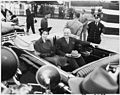 Photograph of Princess Elizabeth of Great Britain and President Truman in a limousine at Washington National Airport. - NARA - 200359.jpg