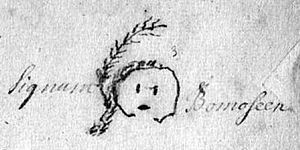 Treaty of Portsmouth (1713) - Pictograph signature of Bomoseen (or Bomazeen), Abenaki sachem