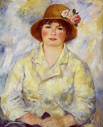 Aline Charigot - Renoir's portrait of Aline, about 1885