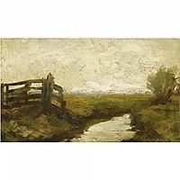 Piet Mondriaan - Polderlandschap met sloot en houten hek - A36 - Piet Mondrian, catalogue raisonné.jpg