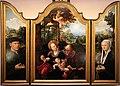 Pieter coecke van aelst e dirck jacobsz., trittico con il rposo in egitto, 01.jpg