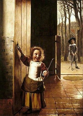 The Bedroom (Karlsruhe) - Image: Pieter de Hooch The Golf Players c.1658