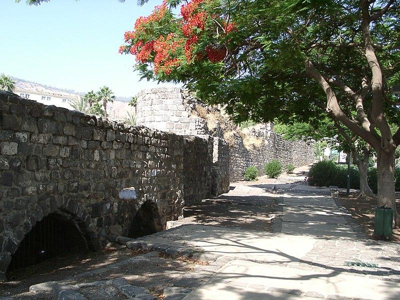 החומה הדרומית בעיר העתיקה טבריה