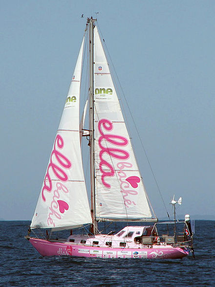 Ella's Pink Lady leaving Brisbane for Sydney Pink Lady sailing (cropped).jpg