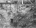 Pit No 2 for the Porcupine Gold Mining Company showing temporary sluice box, Porcupine, Alaska, circa 1907 (AL+CA 2359).jpg