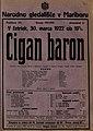 Plakat za predstavo Cigan baron v Narodnem gledališču v Mariboru 30. marca 1922.jpg
