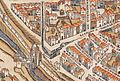 Plan de Paris vers 1550 porte Montmartre.jpg