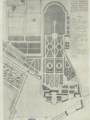 Plan du parc du château de la Muette au XVIIIè siècle.png