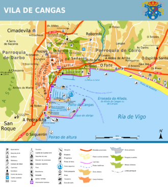 Cangas, Pontevedra - City map