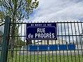 Plaque Rue Progrès - Noisy-le-Sec (FR93) - 2021-04-16 - 2.jpg