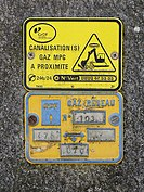 Plaque de signalisation gaz en France 02.jpg