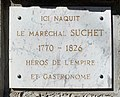 Plaque maison natale de Suchet (Lyon).jpg