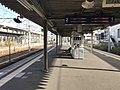 Platform of Nishi-Kokura Station (Nippo Main Line) 2.jpg