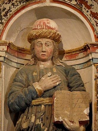 Gamaliel - Statue of Gamaliel in (Chapelle Saint-Nicodème de Pluméliau).