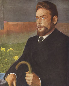 Henrik Pontoppidan prtrætteret af Johan Rohde.
