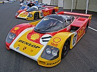 The dominant Group C formula Porsche 962s.