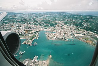 Itoman, Okinawa - A view from a plane