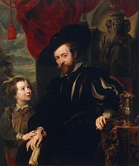 Portrait of Rubens with his Son Albert (copy from the lost original of the late 1610s)