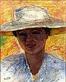 Portrait de femme au grand chapeau par Pierre Bonnard (musée Soumaya, Mexico).jpg