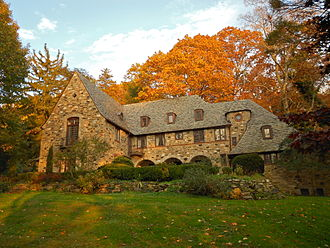 Rose Valley, Pennsylvania - The house of architect Howell Lewis Shay on Possum Hollow Road