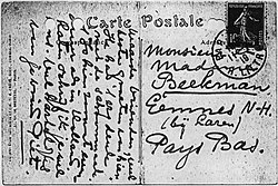 Postcard by Piet Mondrian to Chris and Nelly Beekman 1919-07-11.jpg