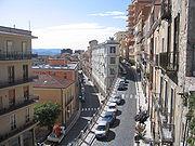 Das Stadtzentrum von Potenza