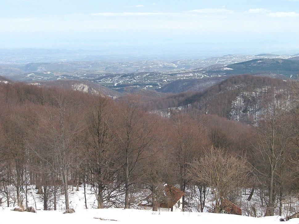 Povlen - zapadna Srbija - Srednji Povlen - Pogled prema zapadu 1