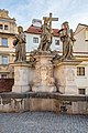 Praha 1, Karlův most, Sochy, Sv. Kosma a Damián se Salvátorem 20170810 001.jpg