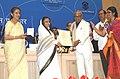 Pratibha Devisingh Patil presenting the Dada Sahab Phalke Award 2010 to Shri K. Balachander, at the 58th National Film Awards function, in New Delhi. The Union Minister for Information and Broadcasting.jpg