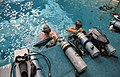 Preparations for Underwater EVA training for the STS 41-G crew 2.jpg