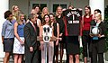 President George W. Bush welcomes the National Champion University of Nebraska-Lincoln Women's Volleyball team to the White House.jpg