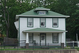 National Register of Historic Places listings in Hempstead County, Arkansas - Image: President William Jefferson Clinton Birthplace Home National Historic Site May 2018 4 (Bill Clinton Birthplace)