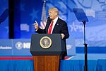President of the United States Donald J. Trump at CPAC 2017 February 24th 2017 by Michael Vadon 05.jpg