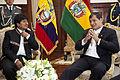 Presidentes de Bolivia y Ecuador se reúnen (9351975911).jpg
