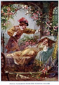 Crapauds mythes et légendes dans GRENOUILLE 200px-Prince_Florimund_finds_the_Sleeping_Beauty_-_Project_Gutenberg_etext_19993