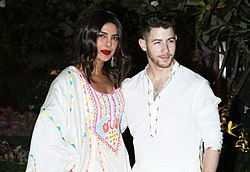 Priyanka Chopra and Nick Jonas in 2020.jpg
