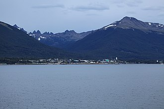 Navarino Island - Puerto Williams and as background, Dientes de Navarino
