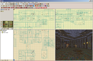Screenshot of QuArK's map editor
