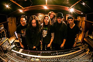 "Queensrÿche - Queensryche in London Bridge Studio with producer James ""Jimbo"" Barton 2012"