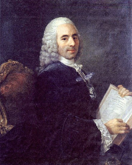 "Francois Quesnay, considered the founding father of Physiocracy. Published the ""Tableau economique"" (Economic Table) in 1758. Quesnay Portrait.jpg"