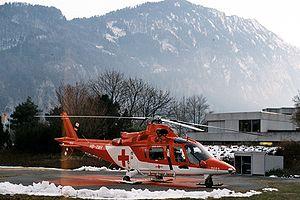 Rega (air rescue) - Rega Agusta A109 K2 in Interlaken.