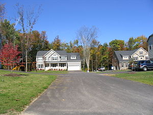 Lysander, New York - A typical neighborhood in the planned community of Radisson within Lysander