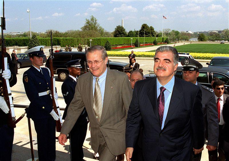 File:Rafiq Hariri with Donald Rumsfeld, 020416-D-9880W-007.jpg