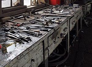 Workshop - A railway workshop.