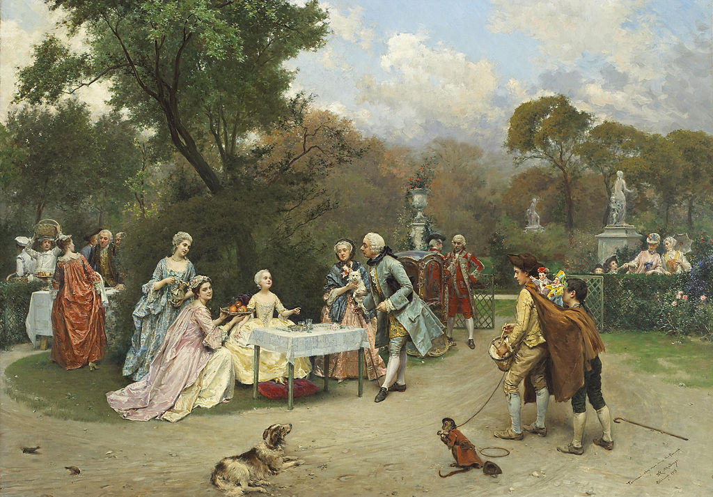 Raimundo Madrazo Princess in the gardens of Versailles
