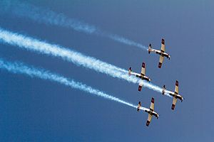 IAF Aerobatic Team - Image: Ramat David 020517 Aerobatic team 02