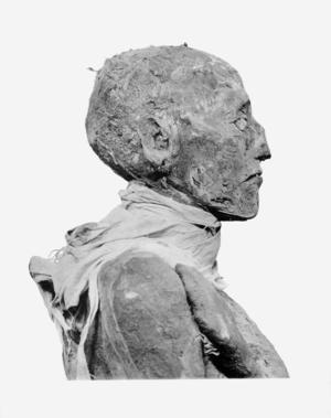 English: Head of mummy of pharaoh Ramesses III...